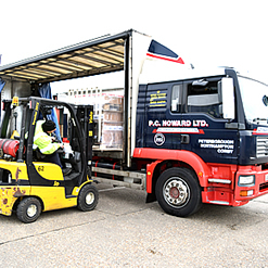 Consilodation of part loads into a single load (Groupage) is way of cost effectively transporting your goods